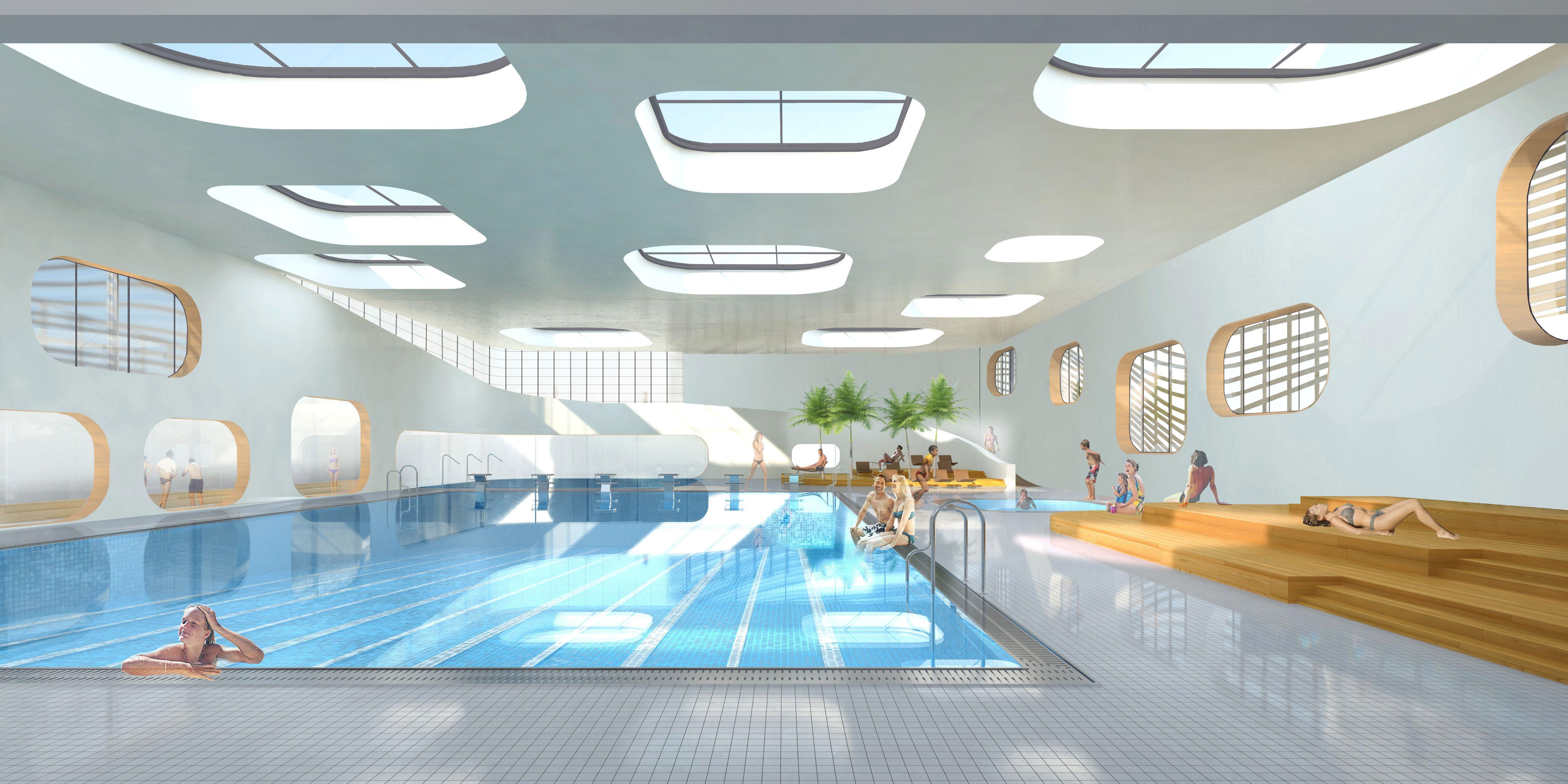 R alisations et cr ation d espaces prives et for Conception piscine publique